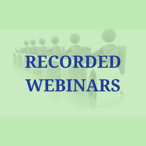 Recorded Webinars for Self-Study